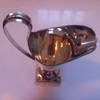 Rare Antique Shepherd & Saunders Sterling Silver Helmet Shaped Milk Jug photo