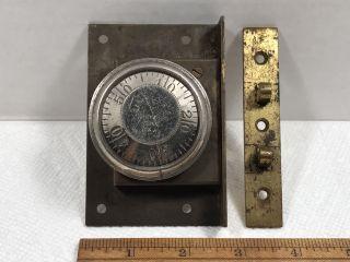 Eagle Lock Company Combination Safe Door Lock Antique Patent 1892 Vintage Old photo