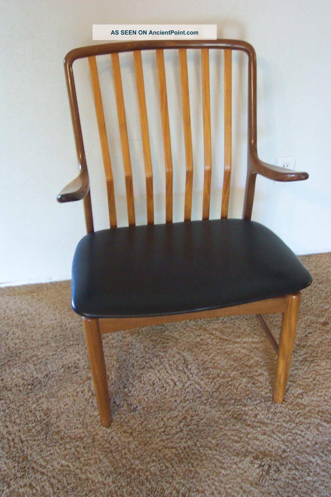 Vtg.  60 ' S Svend Madsen Danish Mid Century Modern Teak Arm Chair Post-1950 photo