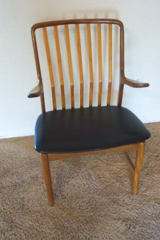 Vtg.  60 ' S Svend Madsen Danish Mid Century Modern Teak Arm Chair photo