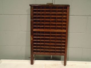 Vintage Printers Tray Drawer Ludlow Press Block Drawer Divider Nic - Nack Shelf photo