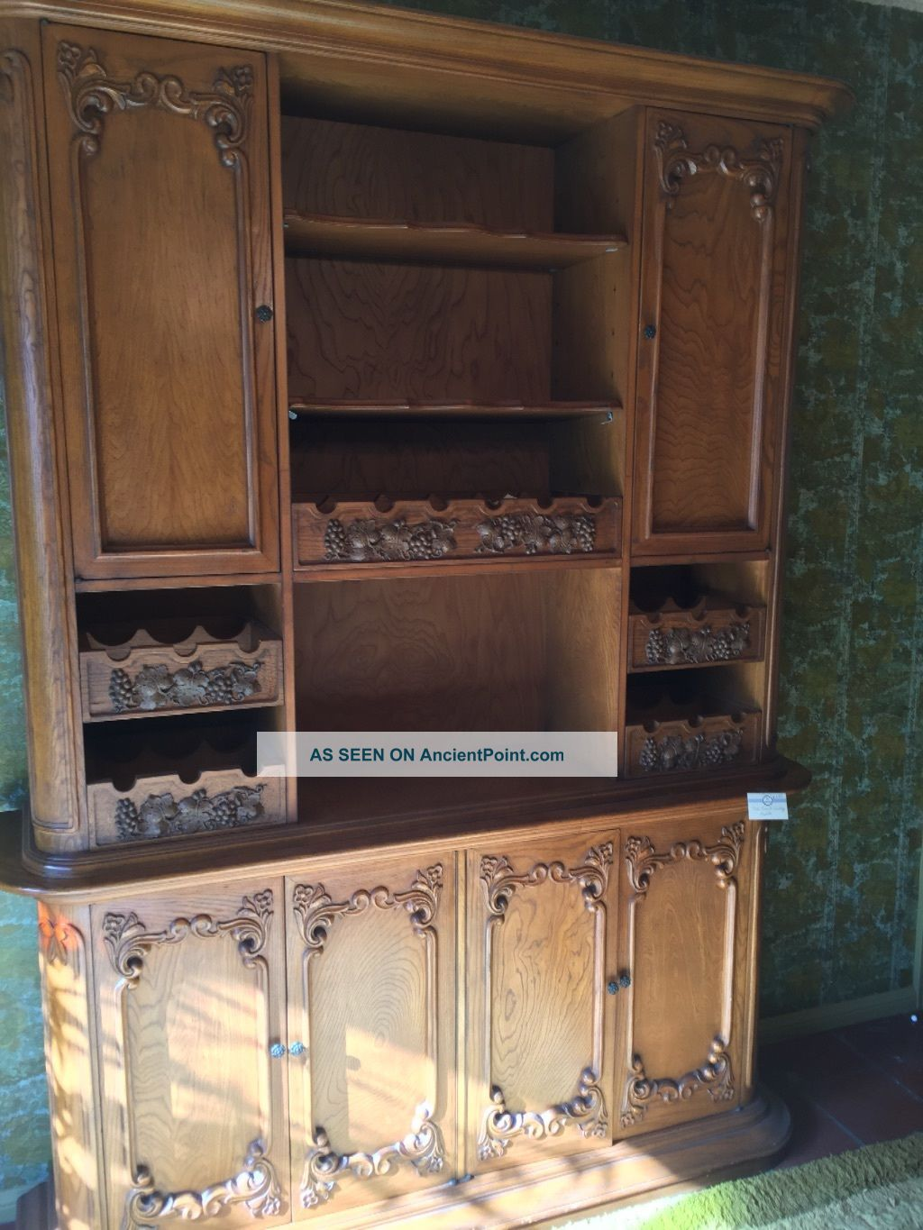Vintage Oak French Country Hutch Post-1950 photo