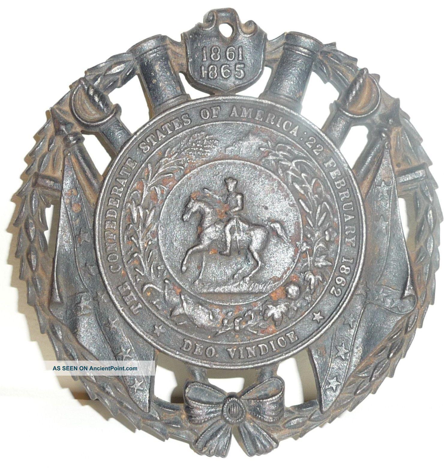 1861 - 1865 Civil War Confederate Commemorative 1952 Trivet Trivets photo