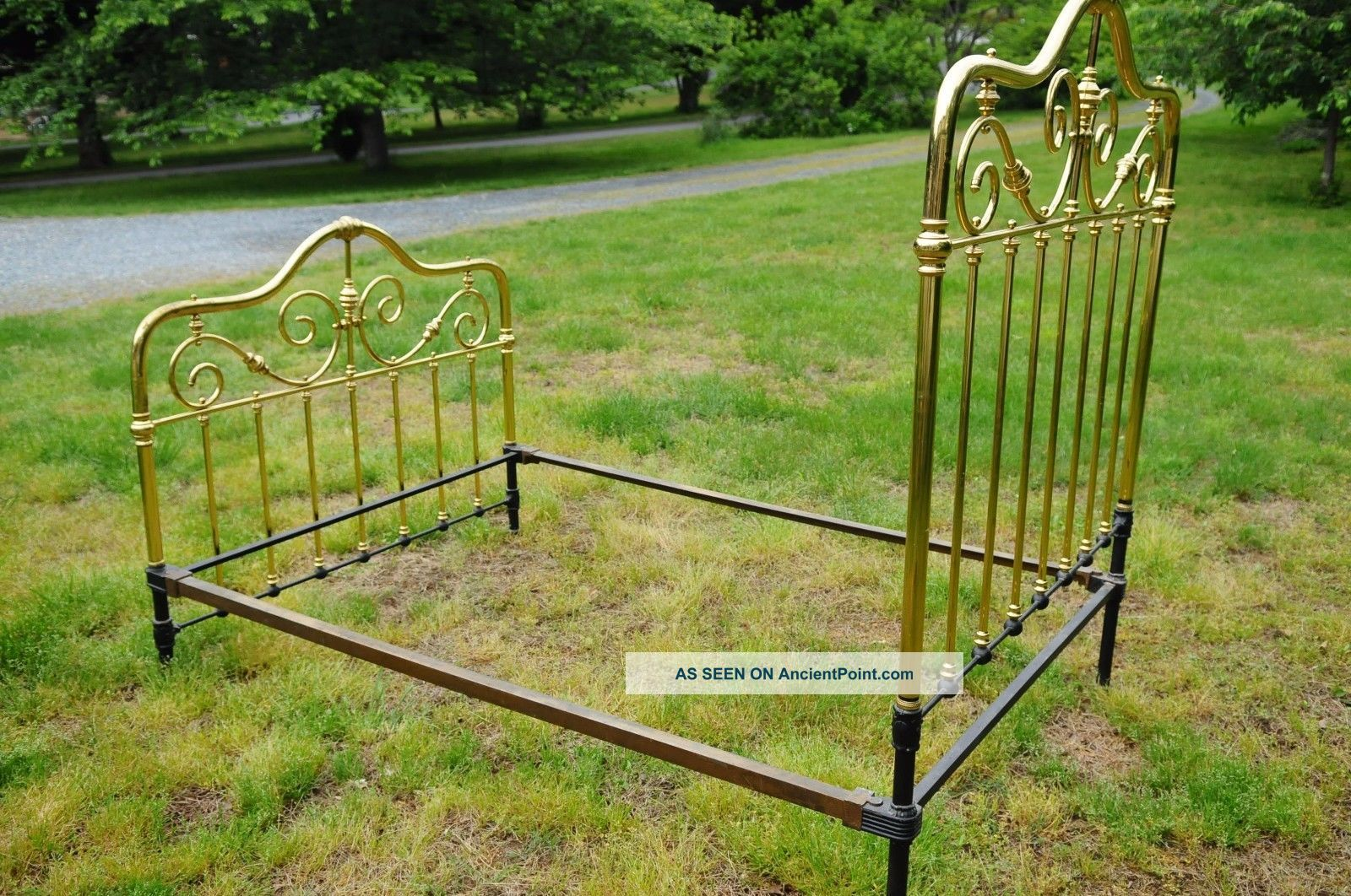 Vintage Brass Bed Frame Full Size Includes Side Rails
