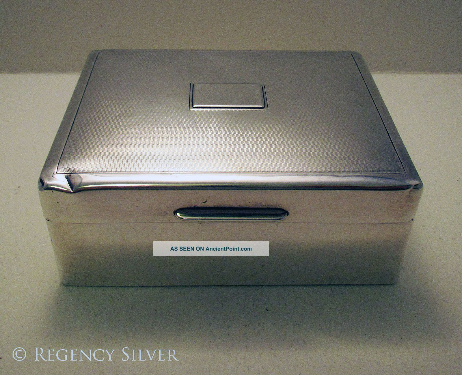 Art Deco Solid Sterling Silver Cigarette Trinket Case/box William/richard Comyns Cigarette & Vesta Cases photo