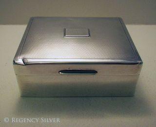 Art Deco Solid Sterling Silver Cigarette Trinket Case/box William/richard Comyns photo