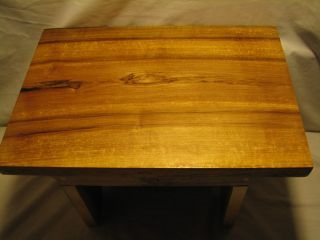 Rustic / Primitive Maple Foot Stool - Plant - - Display Stand 11 R photo