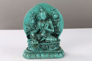 Tibet Collectable Chinese Resin Hand - Carved Guanyin Statue Ls51 photo