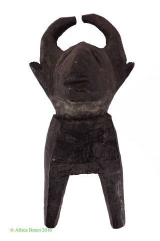 Baule Figural Heddle Pulley Buffalo Ivory Coast African Art Was $39.  00 photo