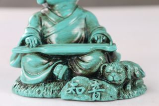 Tibet Collectable Chinese Resin Hand - Carved Buddha Statue Ls42 photo