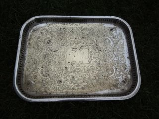 Vintage Silver Plated Tray,  Walker & Hall,  Heavy And Worn photo