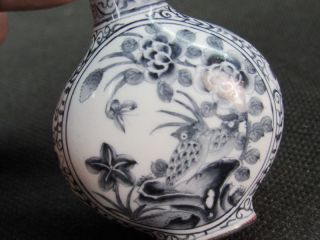 Chinese Butterfly Chrysanthemum Bird Hand Painted Copper Enamel Snuff Bottle photo