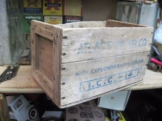 Empty Primitive Wooden Crate Box Atlas Powder Co Weather Wood 14