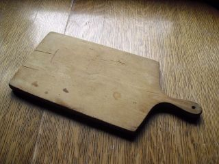 Primitive Early Farm House Kitchen Pantry Old Wood Bread Cutting Chopping Board photo