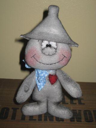 Primitive Hc Standing Whimsical Tin Man Doll Dude Ornie Shelf Sitter photo