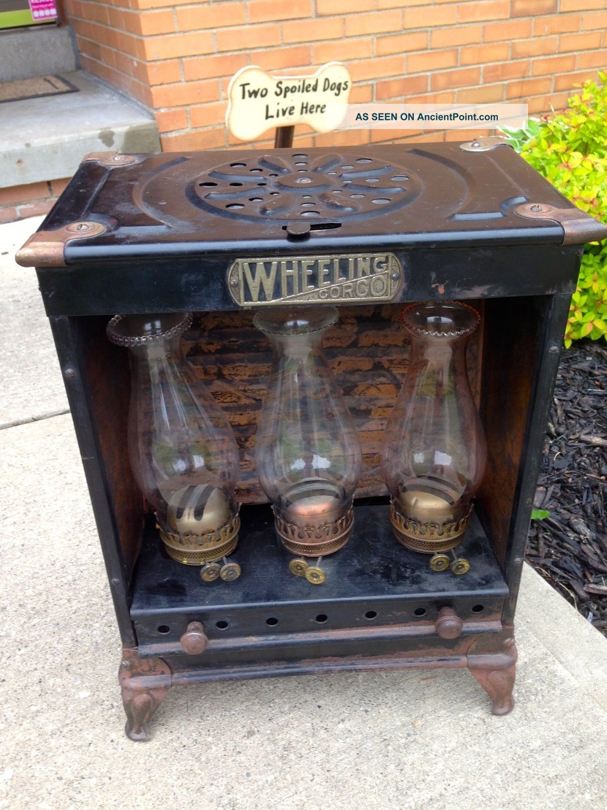 Antique Oil Lamp Stove Heater 315