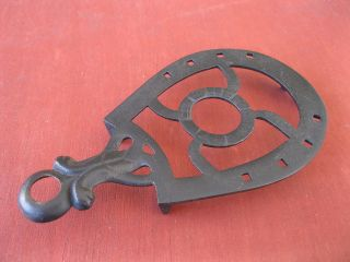 Antique Trivet,  Horseshoe Design,  Vintage Metal,  6 - 3/4