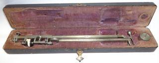 "Antique Swiss Polar Planimeter Crosby Steam Gage & Valve Co Boston Large 10"" photo"