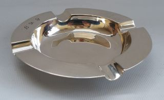 Vtg 1933 Art Deco Adie Bros Solid Sterling Silver Side Table Ash Tray Ecj 82g photo