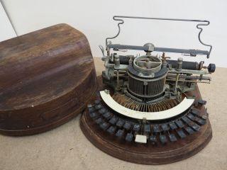 Antique Typewriter Hammond 12 Ideal W/case Ecrire Escribir Schreibmaschine photo
