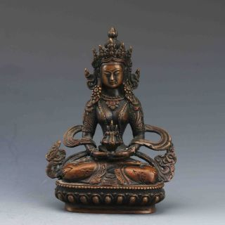 Chinese Bronze Handwork Pharmacist Bodhisattva Statue photo