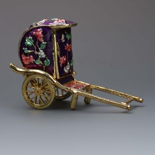 Chinese Cloisonne Hand - Carved Pull Car Statues photo