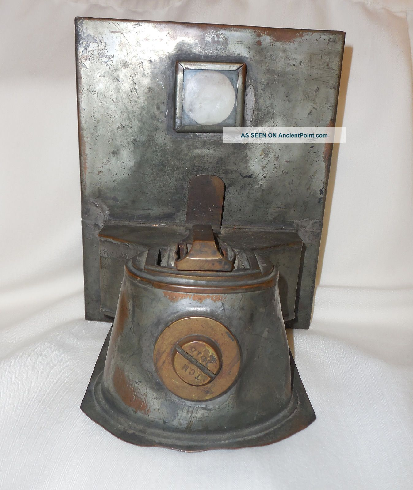 Antique Nautical Lantern/lamp Oil Burner Telford,  Grier & Mackay,  1915,  Glasgow Lamps & Lighting photo