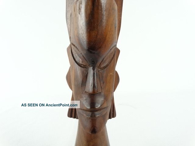 Vintage Oceanic Fiji Hand Carved Wood Fijian Tribal Figure Statue C1970s Pacific Islands & Oceania photo