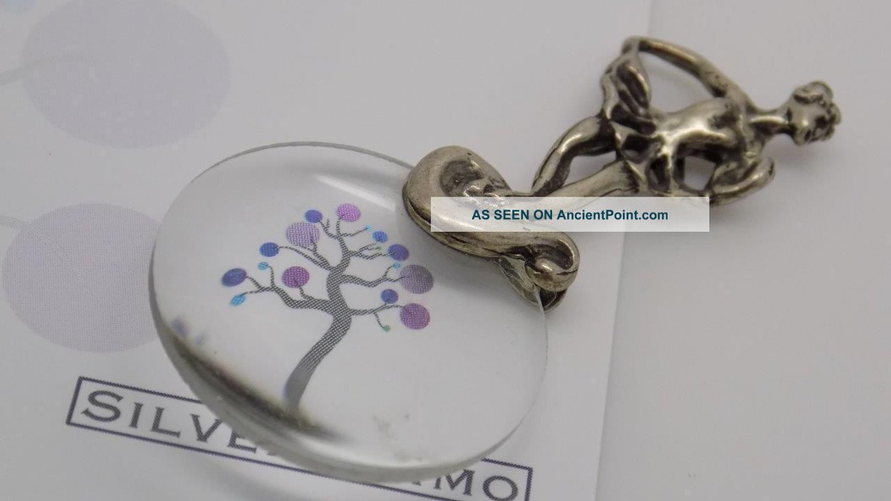 Vintage Solid Silver Ballerina Magnifier Miniature - Stamped - Made In Italy Miniatures photo