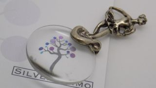 Vintage Solid Silver Ballerina Magnifier Miniature - Stamped - Made In Italy photo
