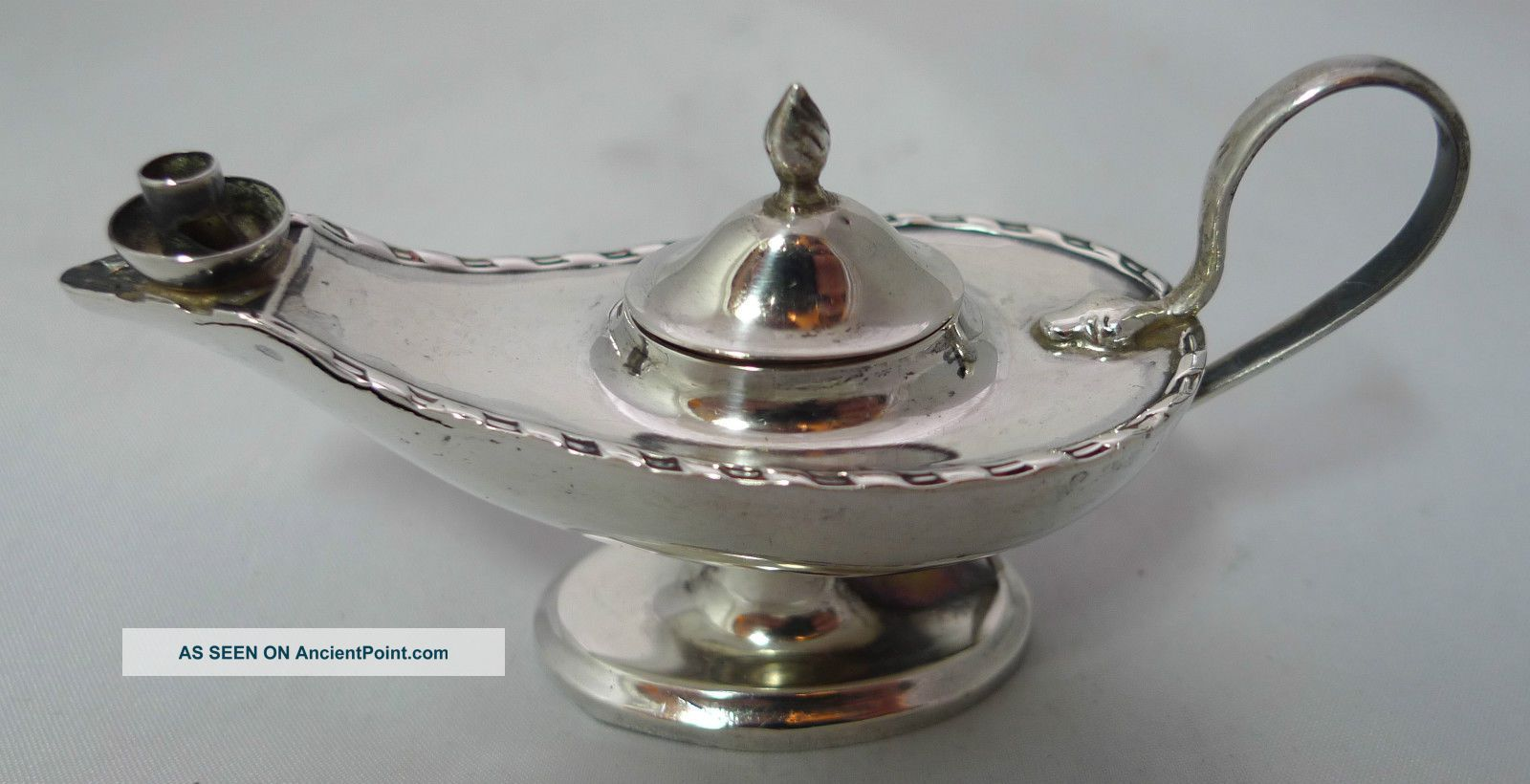 Antique Alladin Lamp Table Lighter Levi & Salaman 1910 Other Antique Sterling Silver photo