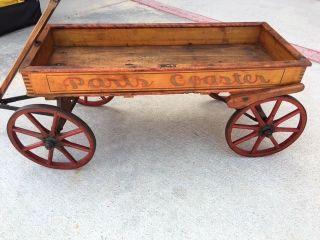 Antique Wagon - Paris Coaster Very Rare photo