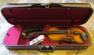 Albert Knorr 4/4 Violin,  Vg Cond.  1930s W Bow And Case - Nr photo