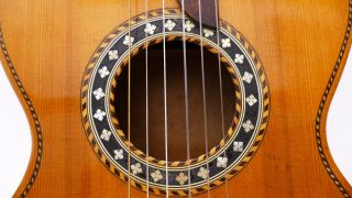 Very Fine Old Antique Old Parlour Parlor Vintage Acoustic Or Classical Guitar photo
