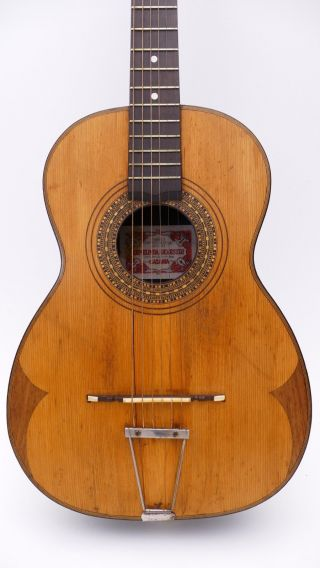 Ermelinda Silvestri Catania Italy Old Antique Old Parlour Parlor Vintage Guitar photo