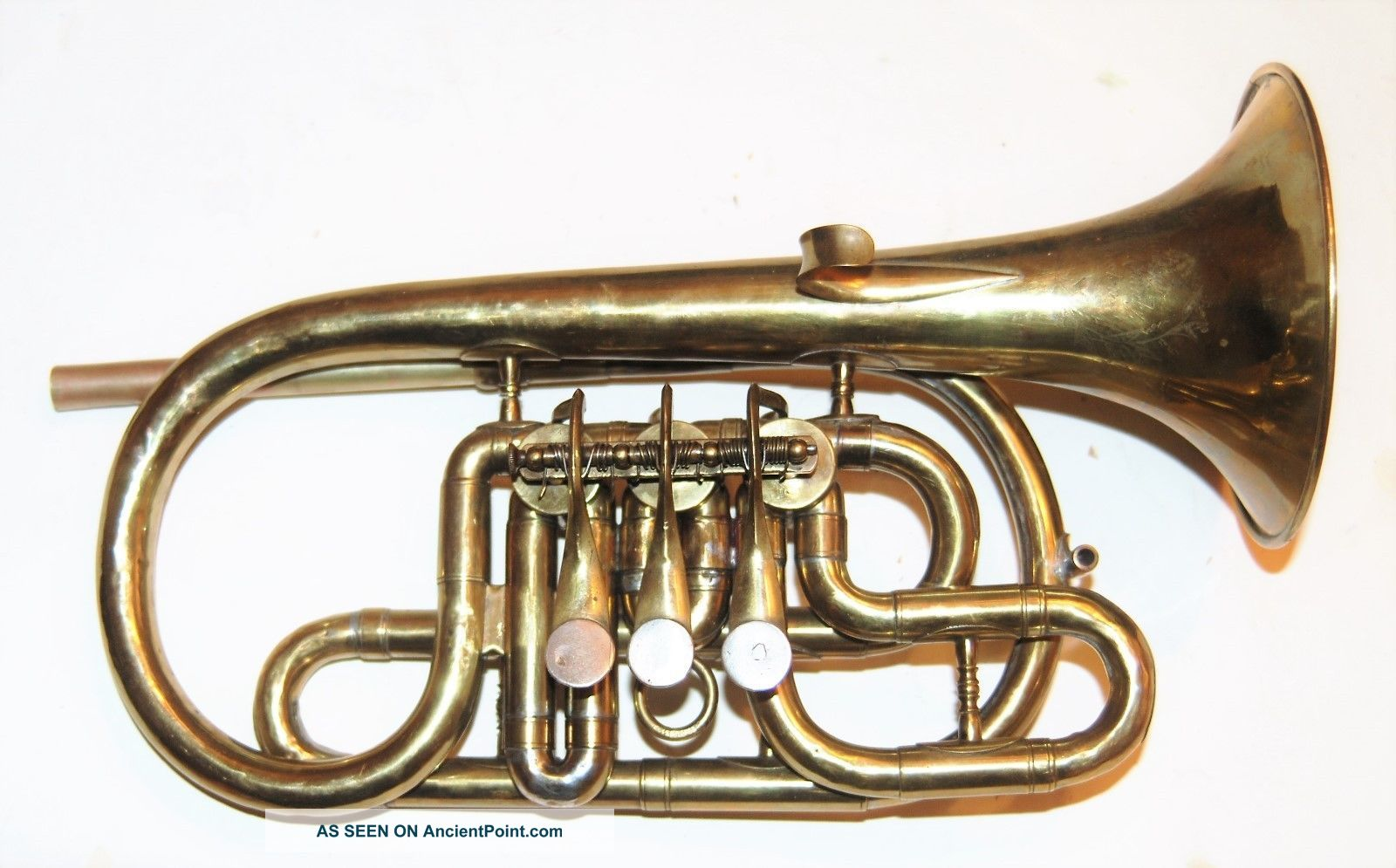 Cornet By Hall And Quinby Side Action Rotary Valves 1865 To 1870 Brass photo