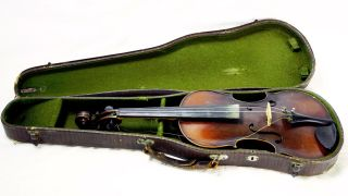 Antique American Era Violin W/ Case Owned By Concertmaster Jacques Gordon (?) photo