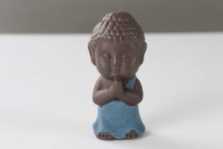 China Handmade Yixing Red Stoneware Ceramic Statue - Small Buddha H956 photo