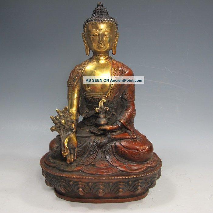 Old Tibetan Brass Buddhism Bodhisattva Sakyamuni Buddha Statue See more Old Tibetan Brass Buddhism Bodhisattva Sakyamu... photo
