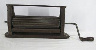 Antique C 1870 Erie Pa Primitive Hand Crank Wooden Clothes/laundry Wringer Yqz photo