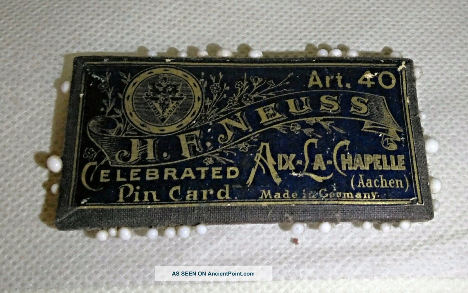 Old Vintage Victorian Pin Cushion Card - H F Neuss Germany - Late 1800 ' S Sewing Other Antique Sewing photo