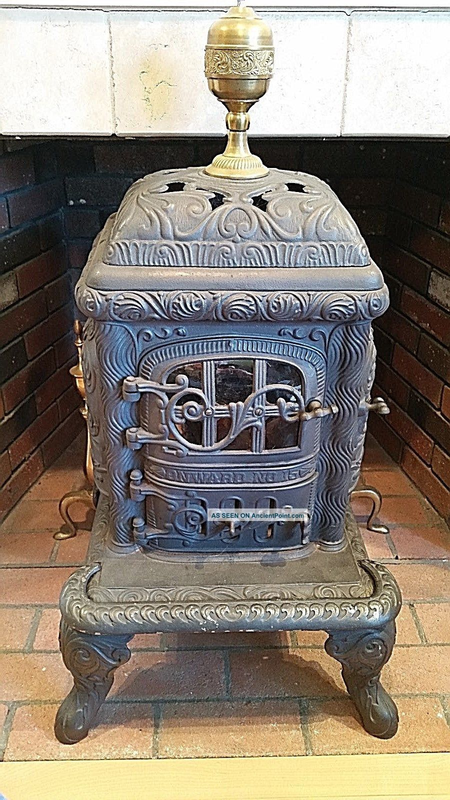 Vintage,  Antique Cast Iron Stove,  Fuller Warren Company,  Onward No.  15 Stoves photo