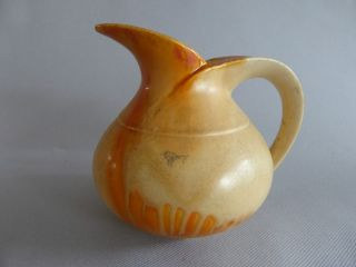 Lovely Vase Jug Seventies Thulin Orange Belgium Drip Glaze Pottery Belgian Art photo