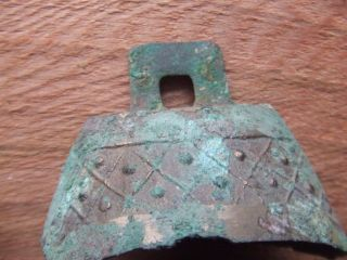 Ancient Chinese.  A Decorated Bronze Bell.  Han Dynasty.  1st Century B.  C. photo