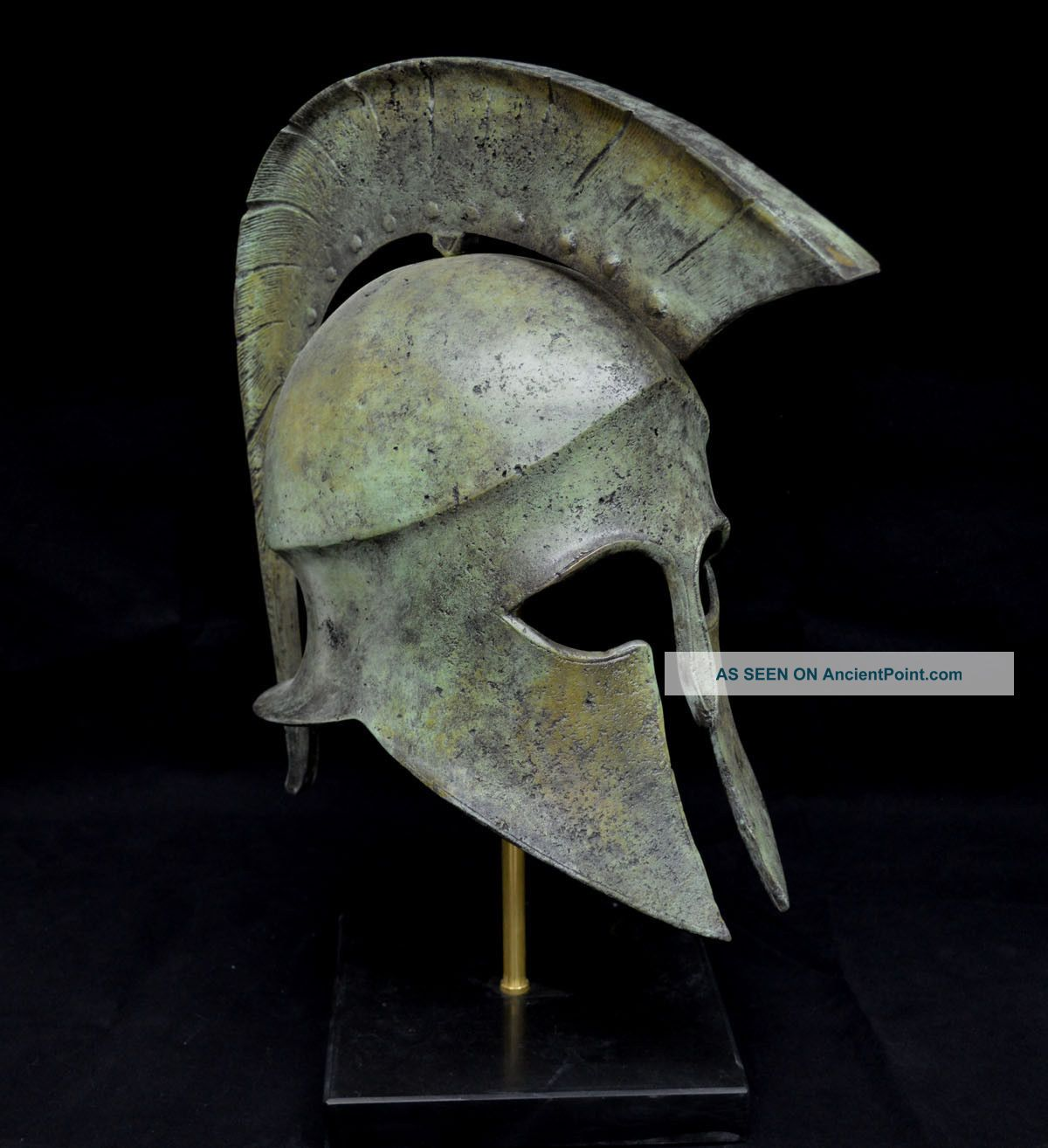 Leonidas Spartan Great Bronze Helmet Artifact Collectible Reproductions photo