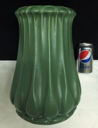 Large Massive Organic Julius Dressler Matte Green Arts Crafts Nouveau 12