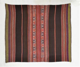 Fine Early 1900s Aymara Awayu Manta Andes Tribal Textile Potosí Tm9893 photo