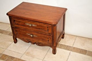 Cabernet By Drexel Walnut French Style Night Stand End Table photo