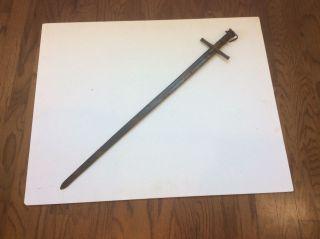 Old Antique African Kaskara Sword Man In The Moon Blade Marks photo