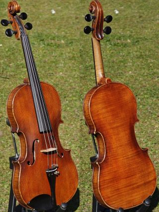 Fine Antique Violin Labelled J.  B.  Schweitzer,  Pestini 1813.  Great,  Mellow Tone photo